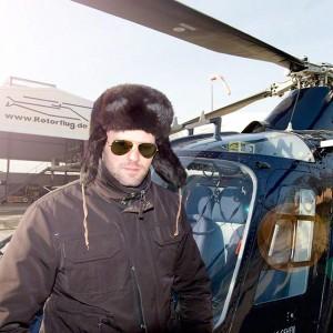 Businessfoto Helikopterpilot